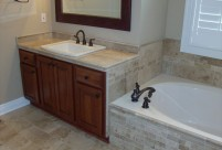 Travertine Vanity Top, Tub, Lake St. Louis, MO