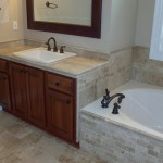 Tile in Bath, floor, bathtub, Sinks, Bathroom Remodel, Lake St. Louis, MO