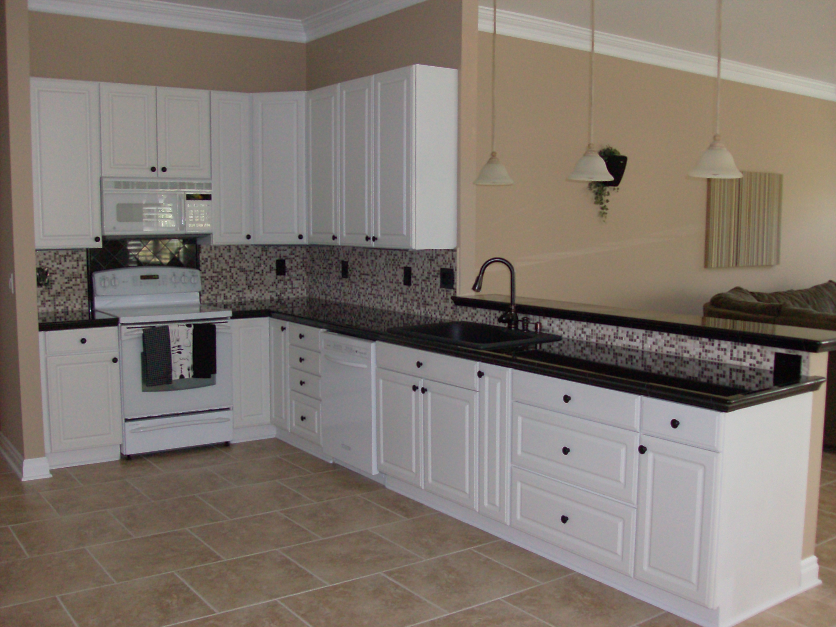 Cabinets, Counter Tops, Lighting, Tile. Kitchen Remodel, Lake St. Louis, MO  ...
